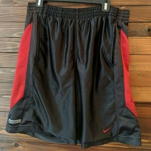 Nike Basketball Red & Black Shorts w Pockets